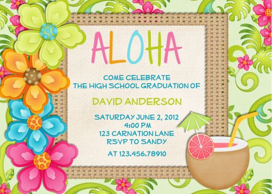 Hawaiian party invitation