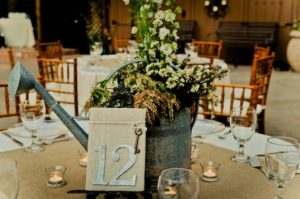 wedding table center for country wedding