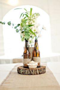 rustic style wedding centerpiece