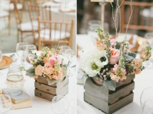 wedding table center for rustic wedding