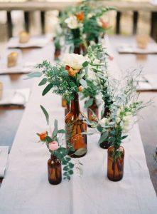 handmade bottle wedding table center
