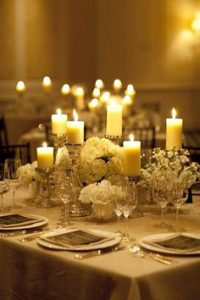 wedding table center using candles