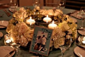 how to make a wedding centerpiece using candles