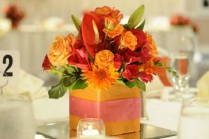 step by step from centerpiece to wedding
