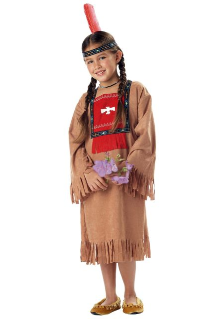 American Indian style children's indian costume