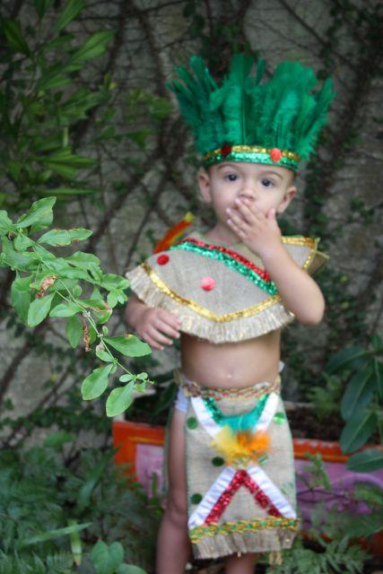 brazilian indian boy's indian costume
