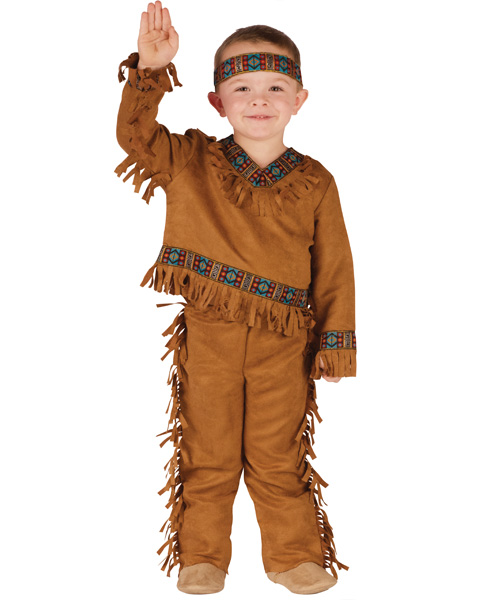 brown leather children's indian costume