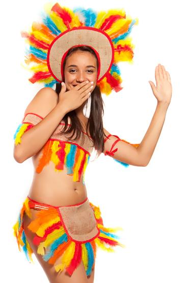 Brazilian style children's indian costume