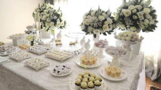 white provencal baptism table