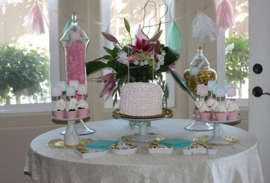 beautiful baptism table