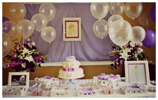 Provencal Lilac baptism table