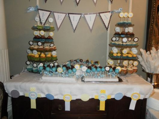 colored baptism table