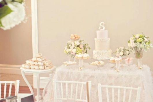 clean style baptism table