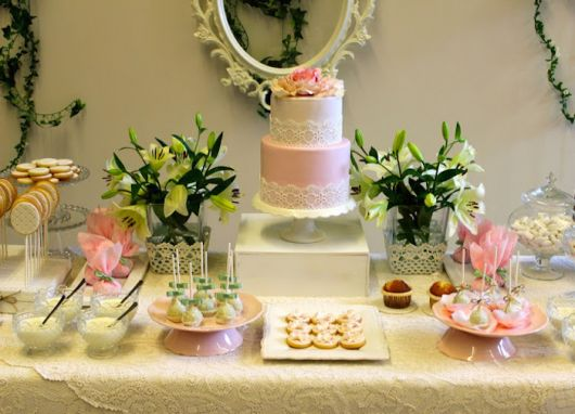 clean and simple baptism table