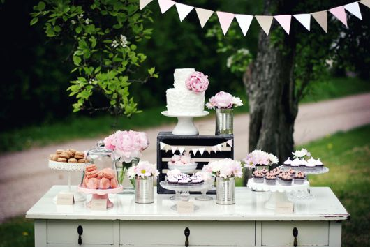 christening table for garden party