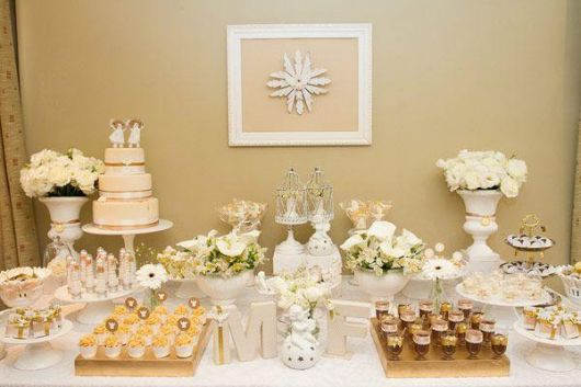 christening table with luxury