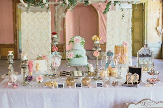 luxury vintage christening table