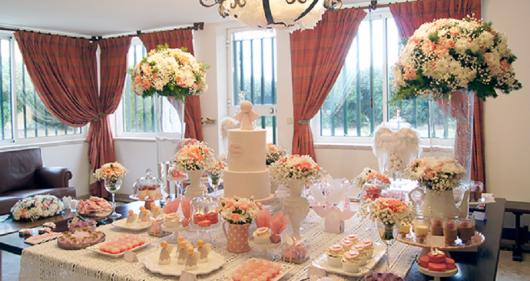 luxury christening table styles