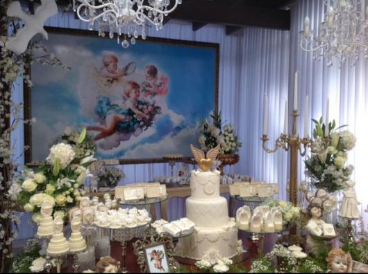 chic baptism table
