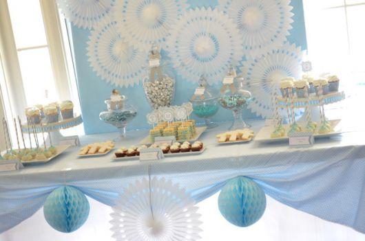 christening table glamor decoration