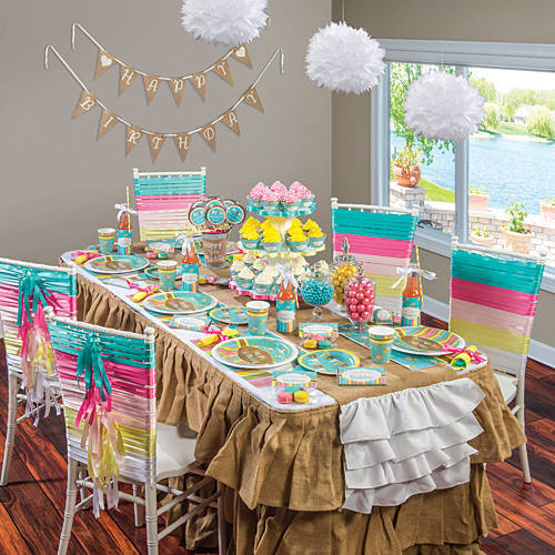 colorful 30-year-old party
