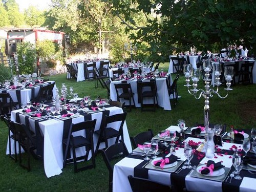 black-white-open air party