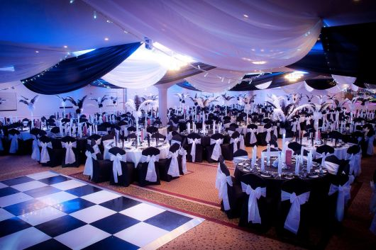 30-year-old black-white-decor party