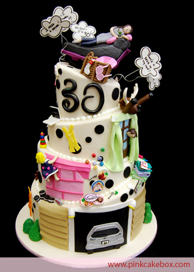 30-year-old cake-decorated party