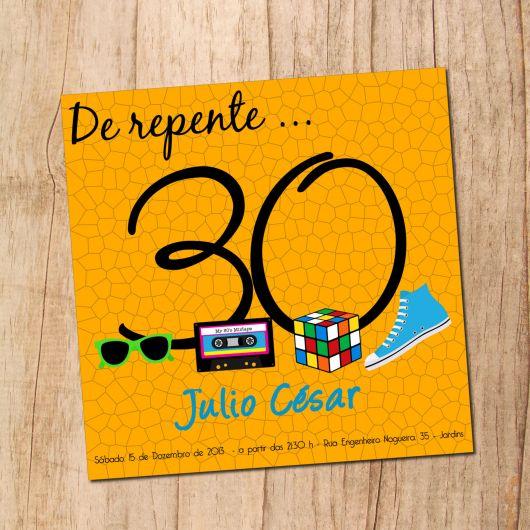 30-year party invitation