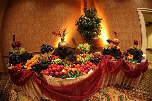 fancy wedding fruit table