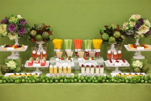 veggie wedding fruit table