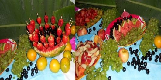fruit table luau