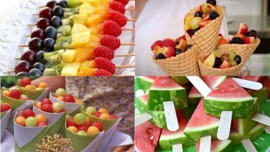 Hawaiian party fruit table