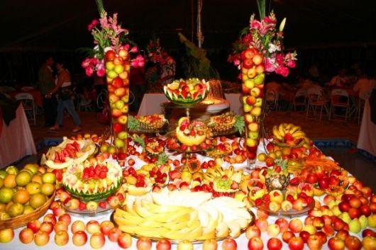 fruit table for luau ball
