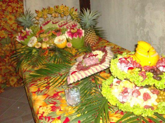 fruit table for luau