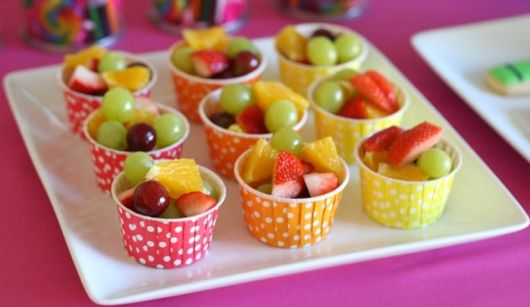 child children's party fruit table