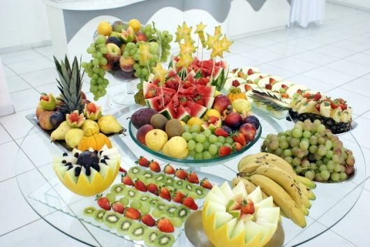 fruit table, party and barbecue