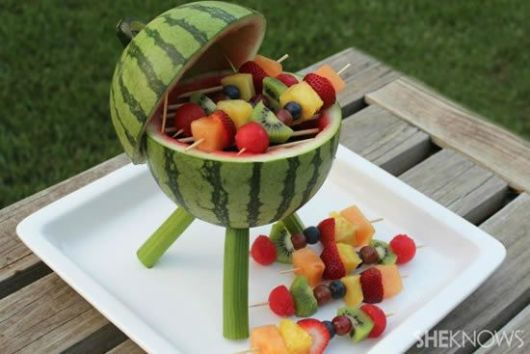 barbeque fruit table
