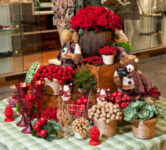 rustic Christmas fruit table how is it