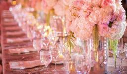 wedding centerpiece with flower arrangement