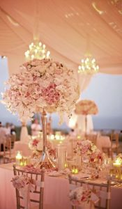 floral wedding table center
