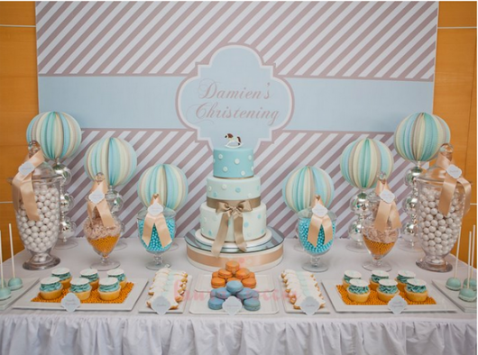 different styles of christening table