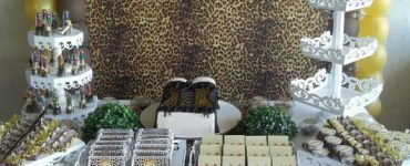 Women's 40th birthday party with leopard print